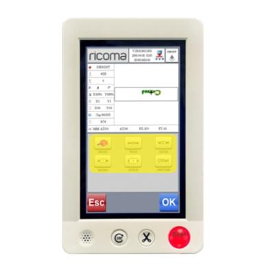 Ricoma EM 1010, дисплей